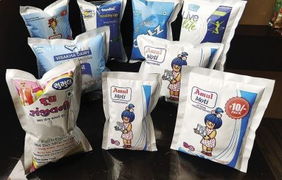 Parakh Flexipacks supplies flexo printed UHT film pouch materials to more than 20 dairy companies in India and overseas
