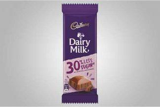 Cadbury Dairy Milk bar with 30% less sugar in India