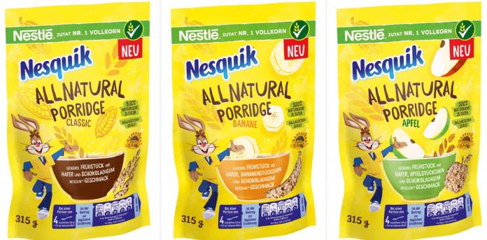 Nesquick porridge
