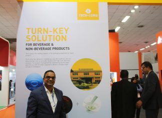 Vithal Kalbate, regional director, Tech-Long at Tech-Long stand in Drink Technology India 2019. Photo PSA