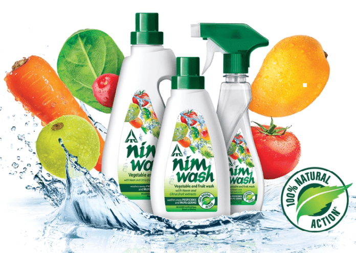NimWash vegetable and fruit wash