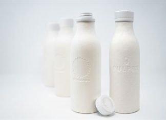 Pulpex Stora paper bottles