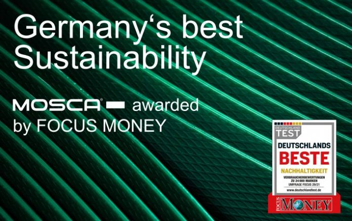 """Mosca tops the list of winners in the """"Mechanical and Plant Engineering"""" category of """"Germany's Best – Sustainability,"""" awarded by Focus Money."""