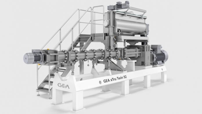 The upgraded Gea xTru Twin 92 high-capacity extruder offers users up to 40 percent higher capacity with the same efficiency, quality, and footprint. (Photo Gea)