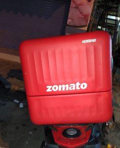 Zomato delivery case on mobile